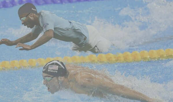 Zawodowy pływak