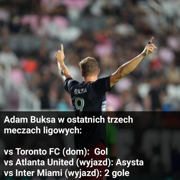 Adam Buksa w świetniej formie w MLS