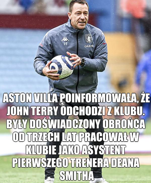 John Terry odchodzi z Aston Villi