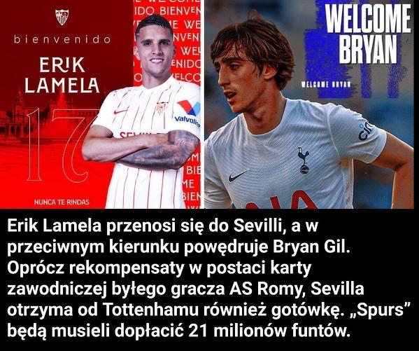 Tottenham i Sevilla doszły do porozumienia w sprawie wielkiej wymiany