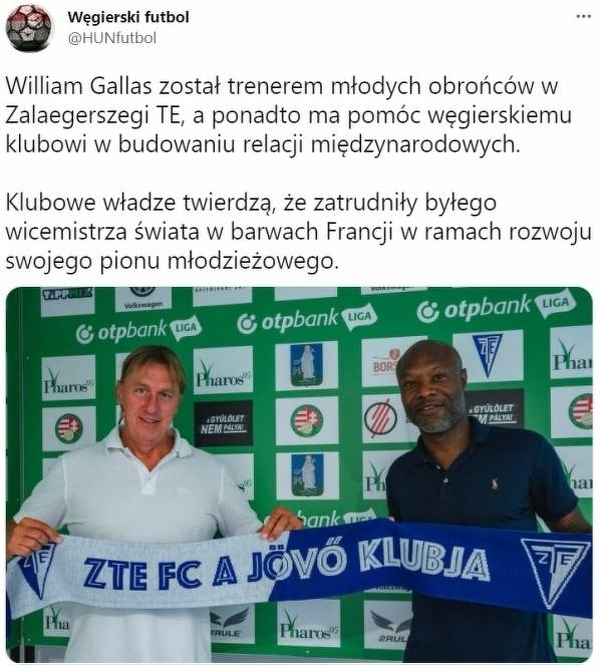 William Gallas znalazł robotę na Węgrzech