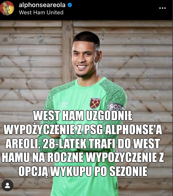 Fabiański ma nowego konkurenta w West Hamie