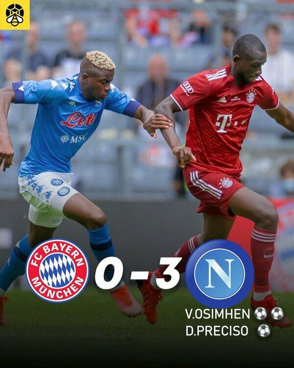 Wygrana Napoli z Bayernem w meczu towarzyskim