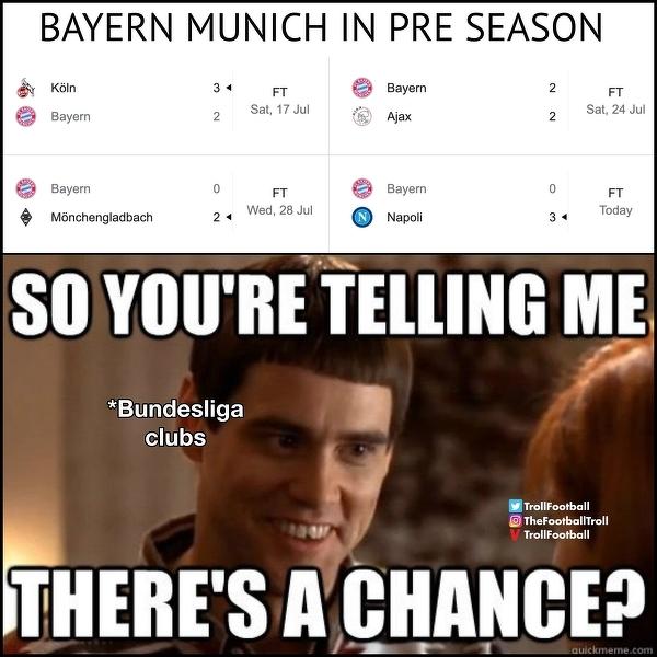 Kluby Bundesligi widząc ostatnie wyniki Bayernu