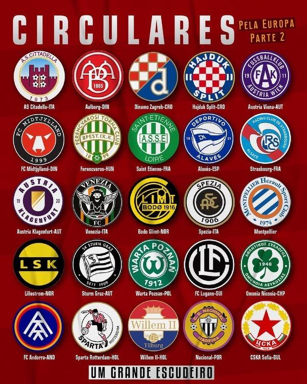 Europejskie kluby z okrągłymi herbami