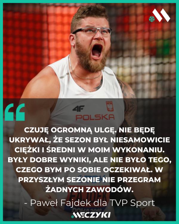 Paweł Fajdek po zdobyciu olimpijskiego medalu