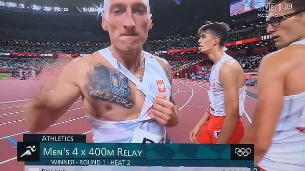 Ekstraklasa na igrzyskach w Tokio. Jakub Krzewina pozdrawia swoich ulubienców po dzisiejszym świetnym biegu 4x400