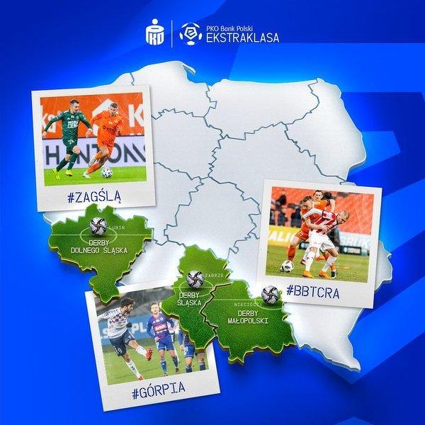 W 6. kolejce Ekstraklasy derby, derby i jeszcze raz derby!