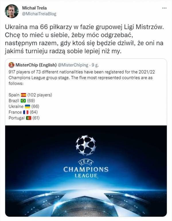 Ukraińscy piłkarze trzecią siłą w Lidze Mistrzów