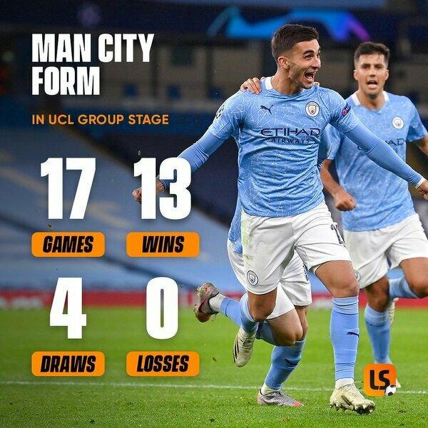 Manchester City w fazie grupowej LM