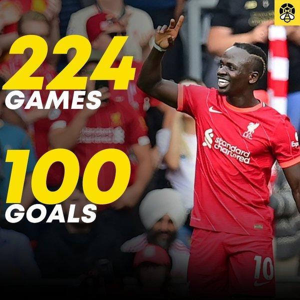 Sadio Mane strzelił 100. gola w barwach Liverpoolu