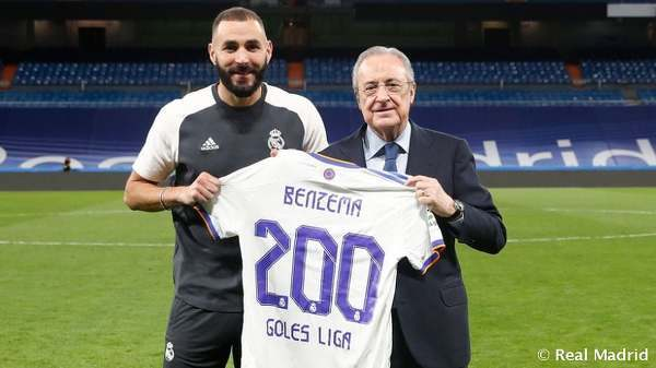 Karim Benzema przeciwko RCD Mallorca zdobył swoją bramkę numer 200 w La Liga