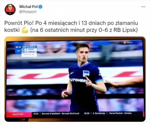 Krzysztof Piątek wrócił na boisko