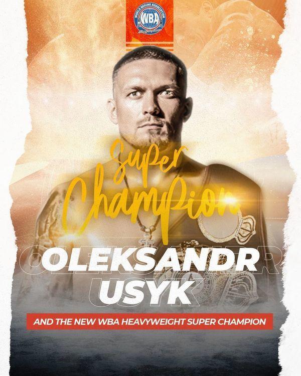 Oleksandr Usyk nowym mistrzem wagi ciężkiej federacji WBA, WBO, IBF i IBO