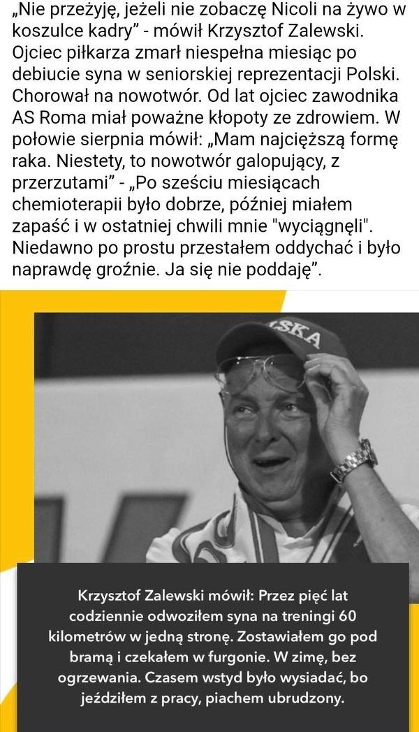 Piękne zachowanie pana Zalewskiego