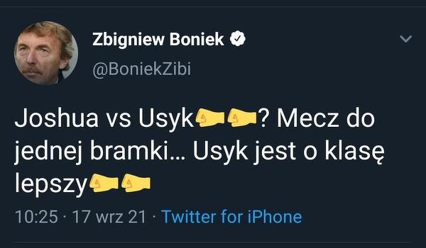 Boniek zna się na boksie