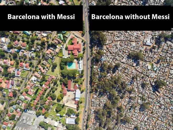 Barca z Messim i Barca bez Messiego