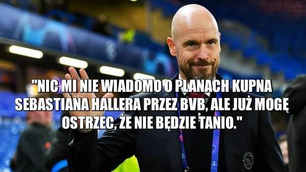 Trener Ajaxu ostrzega BVB