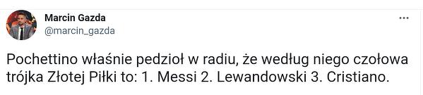 Pochettino wskazał faworytów do Złotej Piłki. Jest Lewandowski!