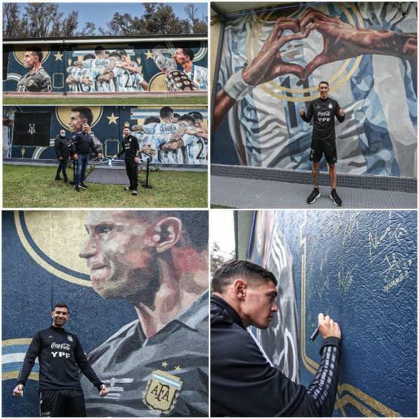 Reprezentanci Argentyny odsłonili mural upamiętniający zdobycie Copa America