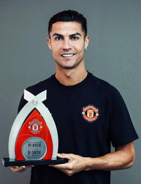 Cristiano Ronaldo piłkarzem miesiąca w Manchesterze United