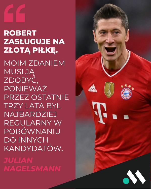 Julian Nagelsmann o Złotej Piłce dla Roberta Lewandowskiego
