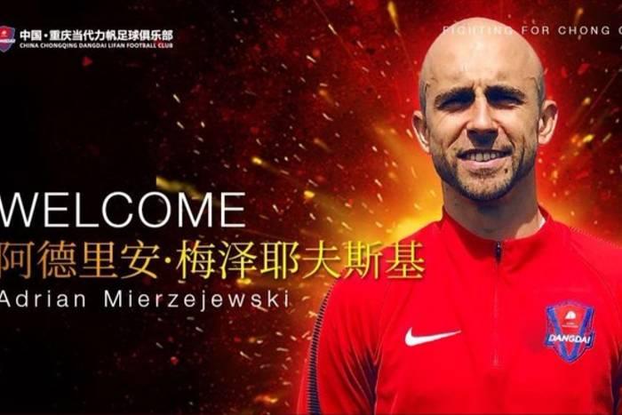 Adrian Mierzejewski ma nowy klub. Nadal będzie grał w Chinach