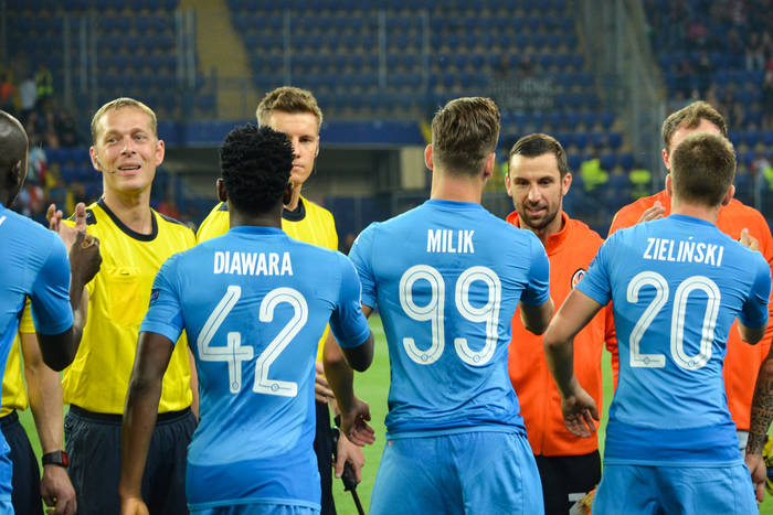 Składy na mecz Parma - SSC Napoli. Milik i Zieliński od pierwszej minuty
