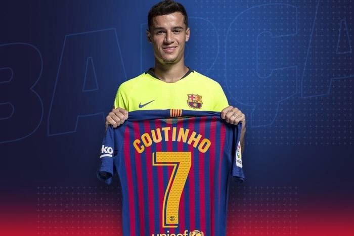 Coutinho z nr 7 w Barcelonie