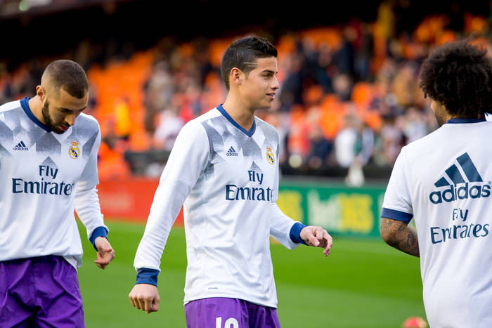 James Rodriguez, Karim Benzema, Marcelo, Real Madryt