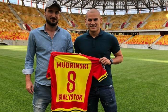 Jagiellonia Białystok wypożyczyła Ognjena Mudrinskiego. Piłkarz dokończy sezony w Chorwacji
