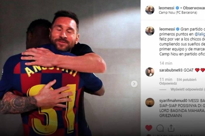 16-letni Ansu Fati zadebiutował w FC Barcelonie. Jego występ skomentował Leo Messi