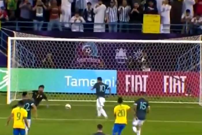 Dwa zmarnowane karne i gol Messiego! Argentyna lepsza od Brazylii [WIDEO]
