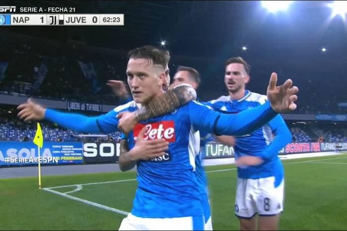 Napoli wygrało z Juventusem w hicie Serie A! Piotr Zieliński pokonał Wojciecha Szczęsnego [WIDEO]