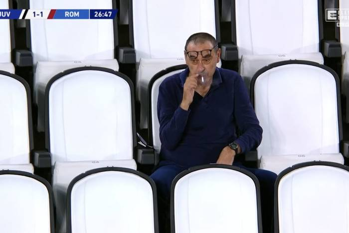 Porażka Juventusu na koniec rozgrywek Serie A. Maurizio Sarri palił na trybunach [WIDEO]