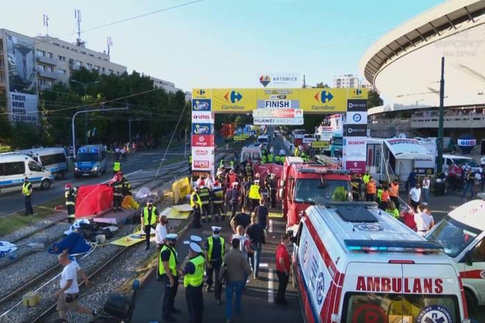 """Fabio Jakobsen walczy o życie po wypadku w Tour de Pologne. """"Noc będzie decydująca"""" [AKTUALIZACJA]"""