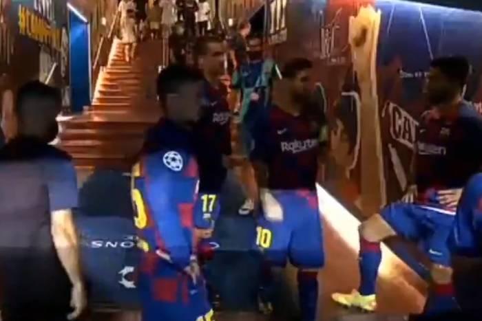 """Tak Leo Messi motywował piłkarzy FC Barcelony przed drugą połową z Napoli. """"Nie bądźmy idiotami"""" [WIDEO]"""