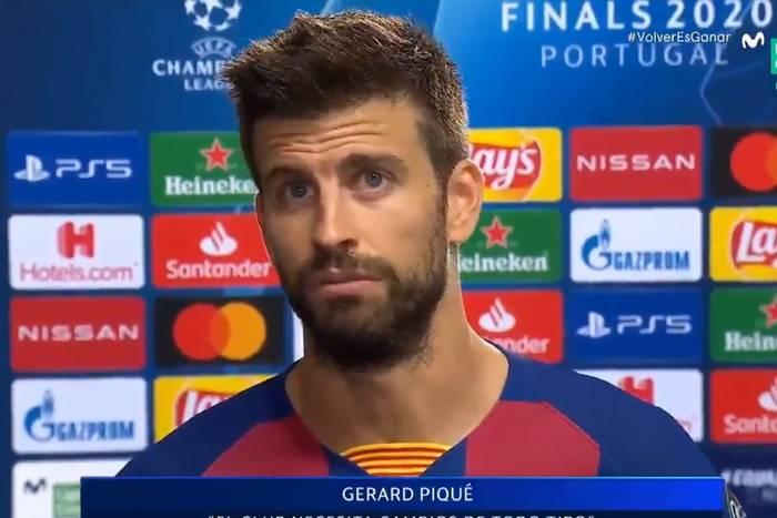 """Gerard Pique nie wytrzymał po blamażu FC Barcelony. """"Osiągnęliśmy dno. Wstyd. Jestem gotów odejść"""" [WIDEO]"""