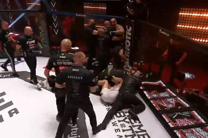 Marcin Najman zdyskwalifikowany na FAME MMA 8! Walka nie trwała nawet minuty [WIDEO]