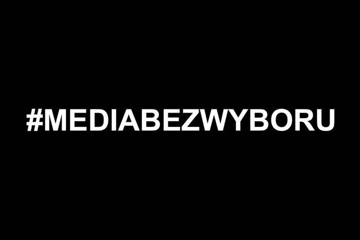 MEDIA BEZ WYBORU. Wspieramy ogólnopolski protest mediów przeciwko wprowadzeniu podatku od reklam!