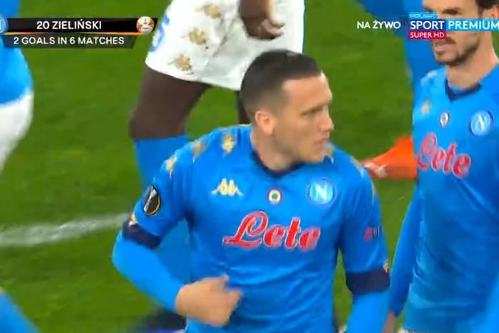Błyskawiczny gol Piotra Zielińskiego w Lidze Europy! Polak dał Napoli nadzieję na odrobienie strat [WIDEO]