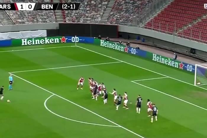 Arsenal odrobił straty i awansował w Lidze Europy! Pięć goli, cudowny wolny i koszmarny błąd Ceballosa [WIDEO]