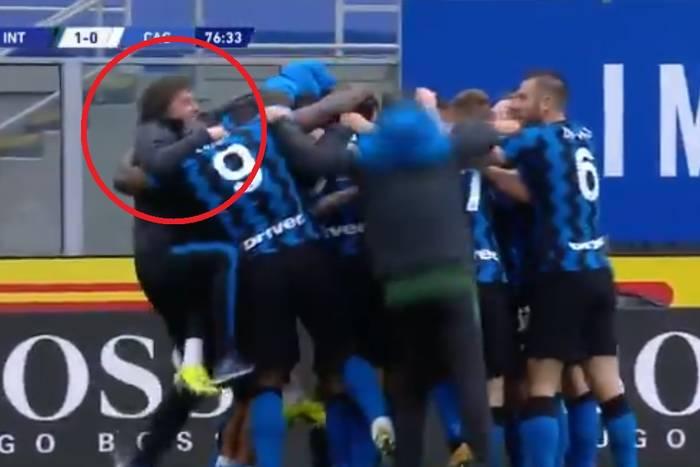 Inter Mediolan coraz bliżej mistrzostwa. Antonio Conte oszalał z radości po zwycięskim golu [WIDEO]
