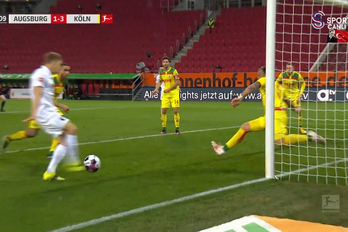Robert Gumny z debiutanckim golem w Bundeslidze! Z bliska trafił do siatki [WIDEO]