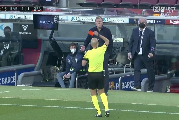 Barcelona przegrała, Koeman wyleciał z czerwoną kartką! Wielka wpadka Katalończyków [WIDEO]
