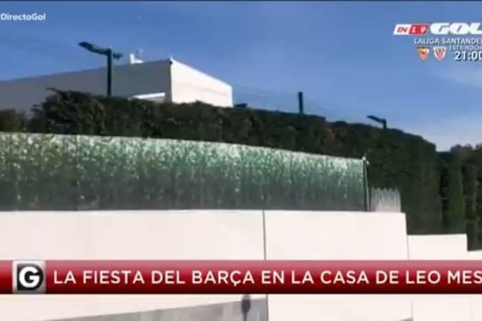 Zadziwiające sceny w domu Leo Messiego. Piłkarze Barcelony już świętowali mistrzostwo [WIDEO]