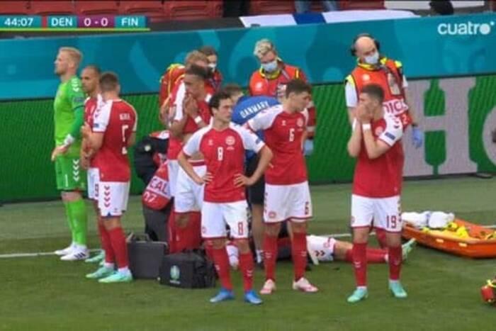 Dramatyczne sceny na mistrzostwach Europy! Christian Eriksen reanimowany [WIDEO]