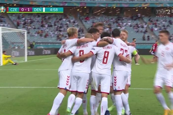 Nie powinno być pierwszego gola dla Danii! Sędzia popełnił fatalny błąd [ZDJĘCIE]