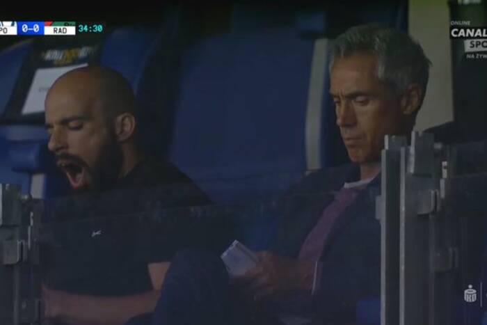 Paulo Sousa twittował, jego asystent ziewał. Tak Portugalczycy oglądali mecz Ekstraklasy