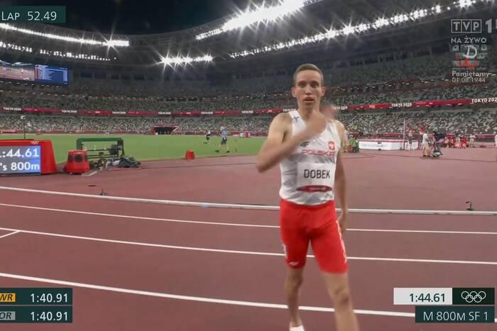 Fantastyczny bieg Patryka Dobka! Wygrał półfinał, będzie walczył o medal na 800 metrów [WIDEO]